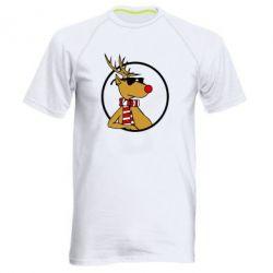 Мужская спортивная футболка Рудольф - FatLine