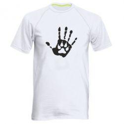 Мужская спортивная футболка Рука волка