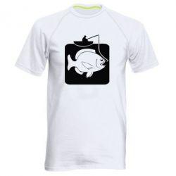 Мужская спортивная футболка Рыба на крючке - FatLine