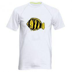 Мужская спортивная футболка рыбка - FatLine