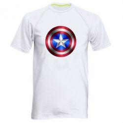 Мужская спортивная футболка Щит Капитана Америка - FatLine