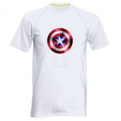 Мужская спортивная футболка Щит кэпа - FatLine
