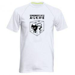 Мужская спортивная футболка Schrodinger's cat is alive - FatLine