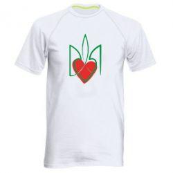 Мужская спортивная футболка Серце з гербом - FatLine