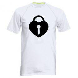 Мужская спортивная футболка Сердце со скважиной - FatLine