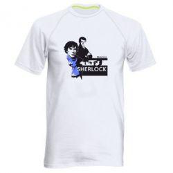 Мужская спортивная футболка Sherlock (Шерлок Холмс) - FatLine