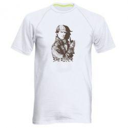 Мужская спортивная футболка Шерлок рисунок