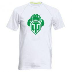Мужская спортивная футболка Шлем WOT - FatLine