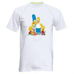 Мужская спортивная футболка Simpsons Family - FatLine