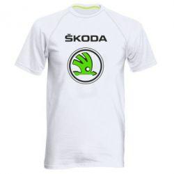 Мужская спортивная футболка Skoda Bird - FatLine