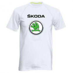 Мужская спортивная футболка Skoda Logo 3D - FatLine