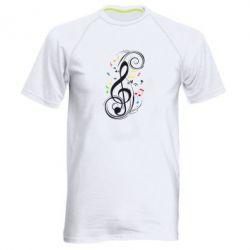 Мужская спортивная футболка Скрипичный ключ - FatLine