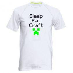 Мужская спортивная футболка Sleep,eat, craft - FatLine