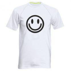 Мужская спортивная футболка Смайлик - FatLine