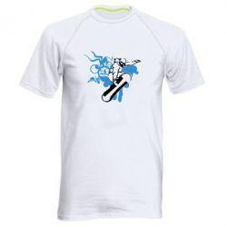 Мужская спортивная футболка Сноуборд - FatLine
