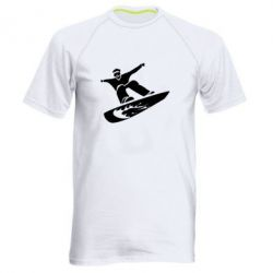 Мужская спортивная футболка Snow Board - FatLine