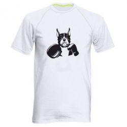 Мужская спортивная футболка Собака в боксерских перчатках - FatLine