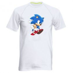 Мужская спортивная футболка Sonic 3d - FatLine