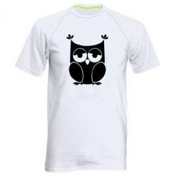 Мужская спортивная футболка Сова - FatLine