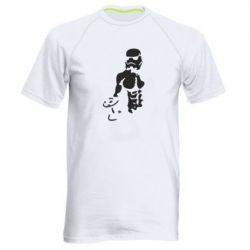 Мужская спортивная футболка Star Wars с гантелей - FatLine