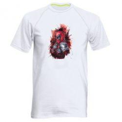 Мужская спортивная футболка Стесняшка Deadpool - FatLine