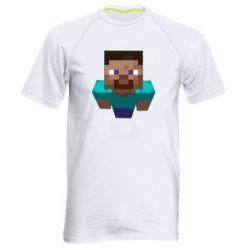 Мужская спортивная футболка Steve from Minecraft