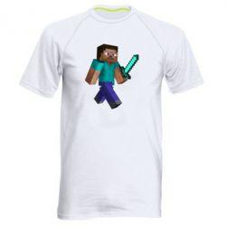 Мужская спортивная футболка Стив - FatLine