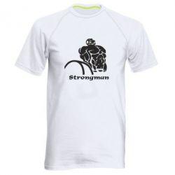 Мужская спортивная футболка Strongman - FatLine