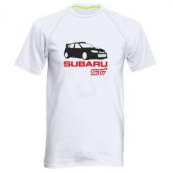 Мужская спортивная футболка Subaru STI - FatLine