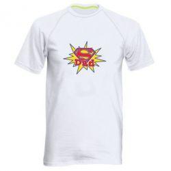 Мужская спортивная футболка Super Dad - FatLine