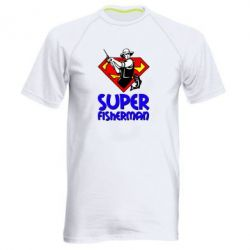 Мужская спортивная футболка Super FisherMan - FatLine