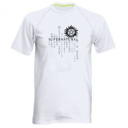 Мужская спортивная футболка Supernatural Art