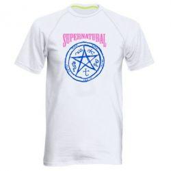 Мужская спортивная футболка Supernatural круг - FatLine