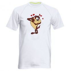 Мужская спортивная футболка Taz in love - FatLine