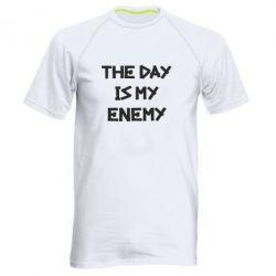 Мужская спортивная футболка The day is my enemy