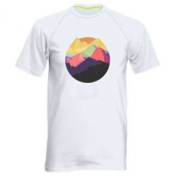 Мужская спортивная футболка The mountains Art