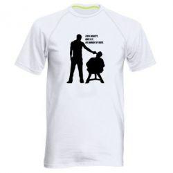 Мужская спортивная футболка Three minutes. - FatLine