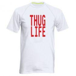 Мужская спортивная футболка thug life - FatLine