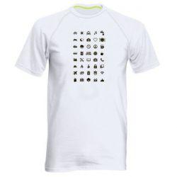 Мужская спортивная футболка Travel-Iconspeak - FatLine