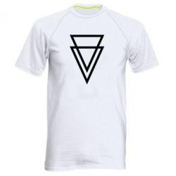 Мужская спортивная футболка Triangles - FatLine