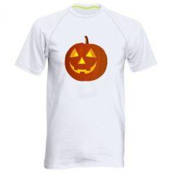 Мужская спортивная футболка Тыква Halloween - FatLine