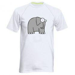 Мужская спортивная футболка удивленный слон - FatLine