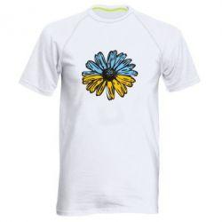 Мужская спортивная футболка Українська квітка - FatLine
