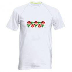 Мужская спортивная футболка Українська вишивка - FatLine