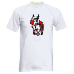 Мужская спортивная футболка Українській кінь - FatLine