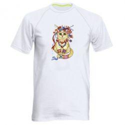 Мужская спортивная футболка Украинский кот
