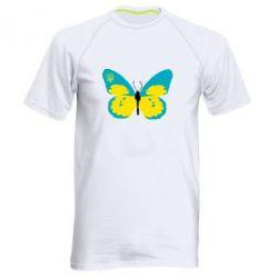 Мужская спортивная футболка Український метелик - FatLine