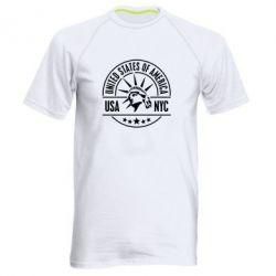Мужская спортивная футболка USA NYC - FatLine
