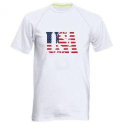 Мужская спортивная футболка USA - FatLine