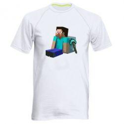 Мужская спортивная футболка Уставший Стив - FatLine